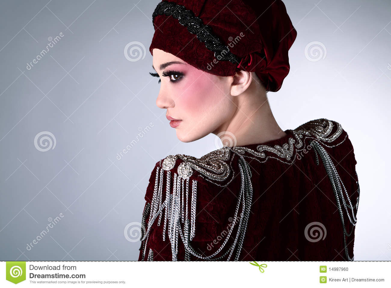 Attractive Model In Exclusive Design Clothes Stock Photo