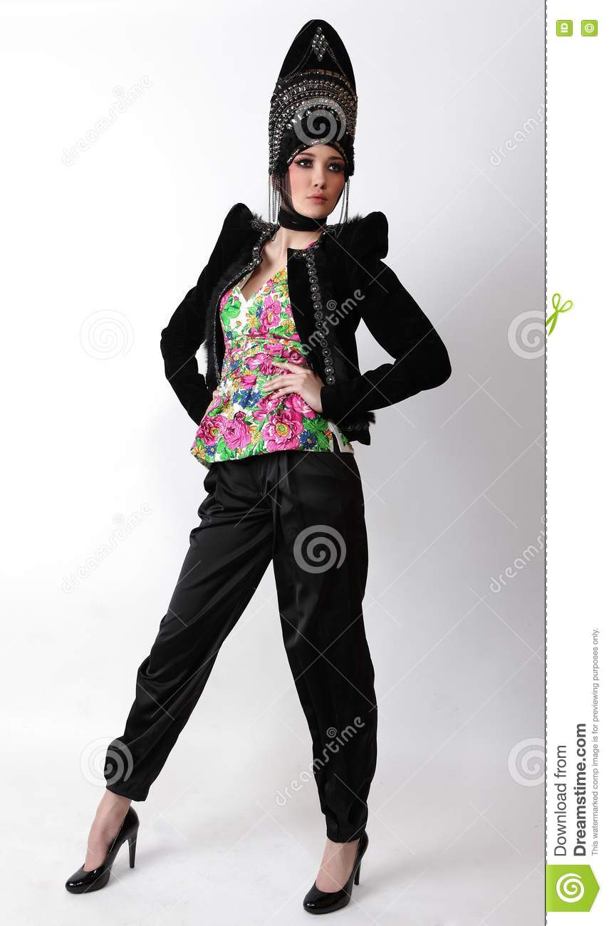 Attractive Model In Exclusive Design Clothes Royalty Free