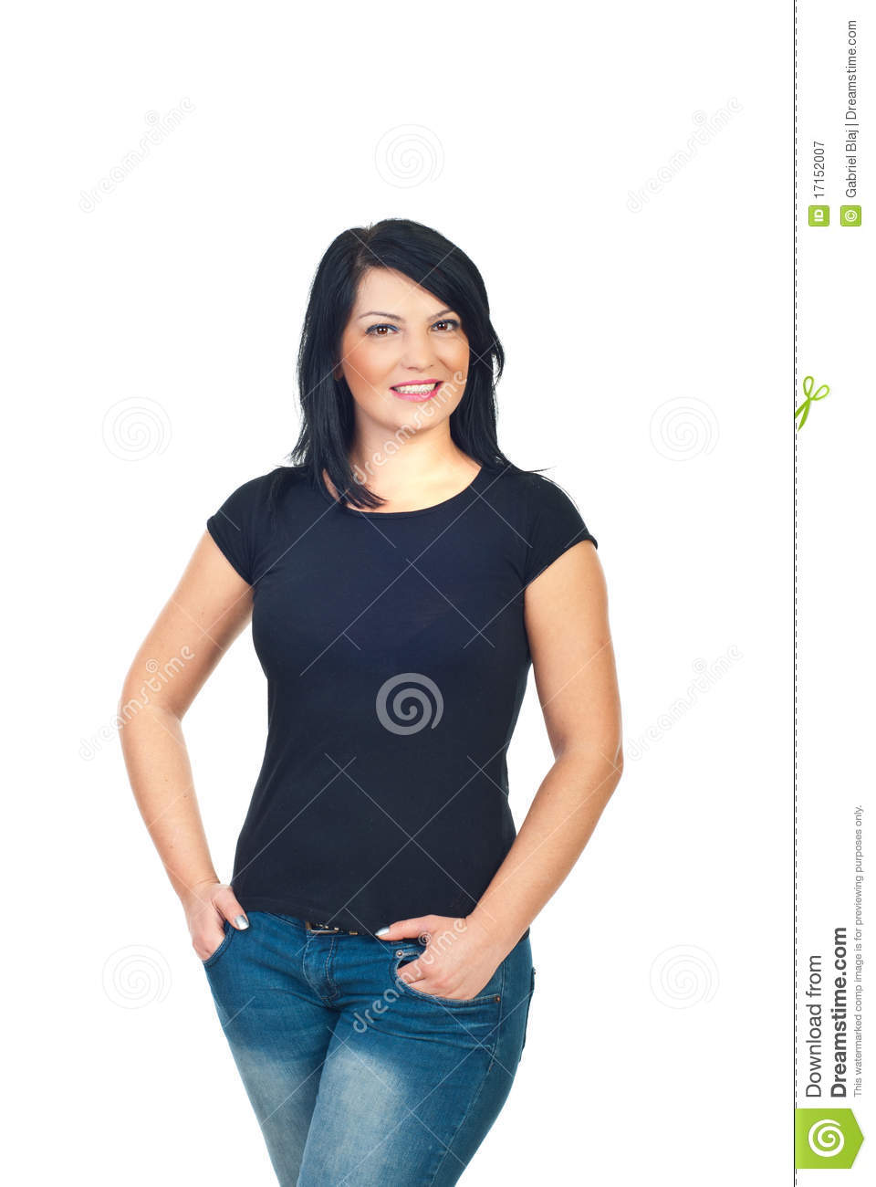 black t shirt model woman - photo #1