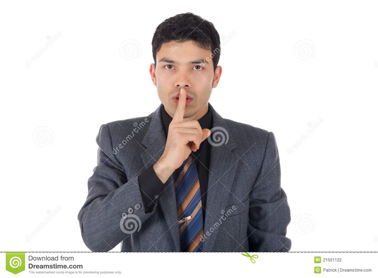 Attractive Nepalese businessman, silence