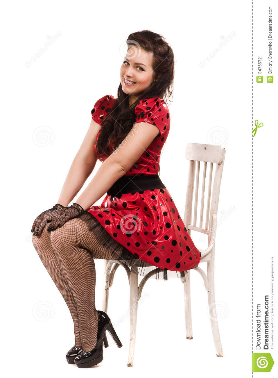 attractive pin up girl stock image image 34766721. Black Bedroom Furniture Sets. Home Design Ideas