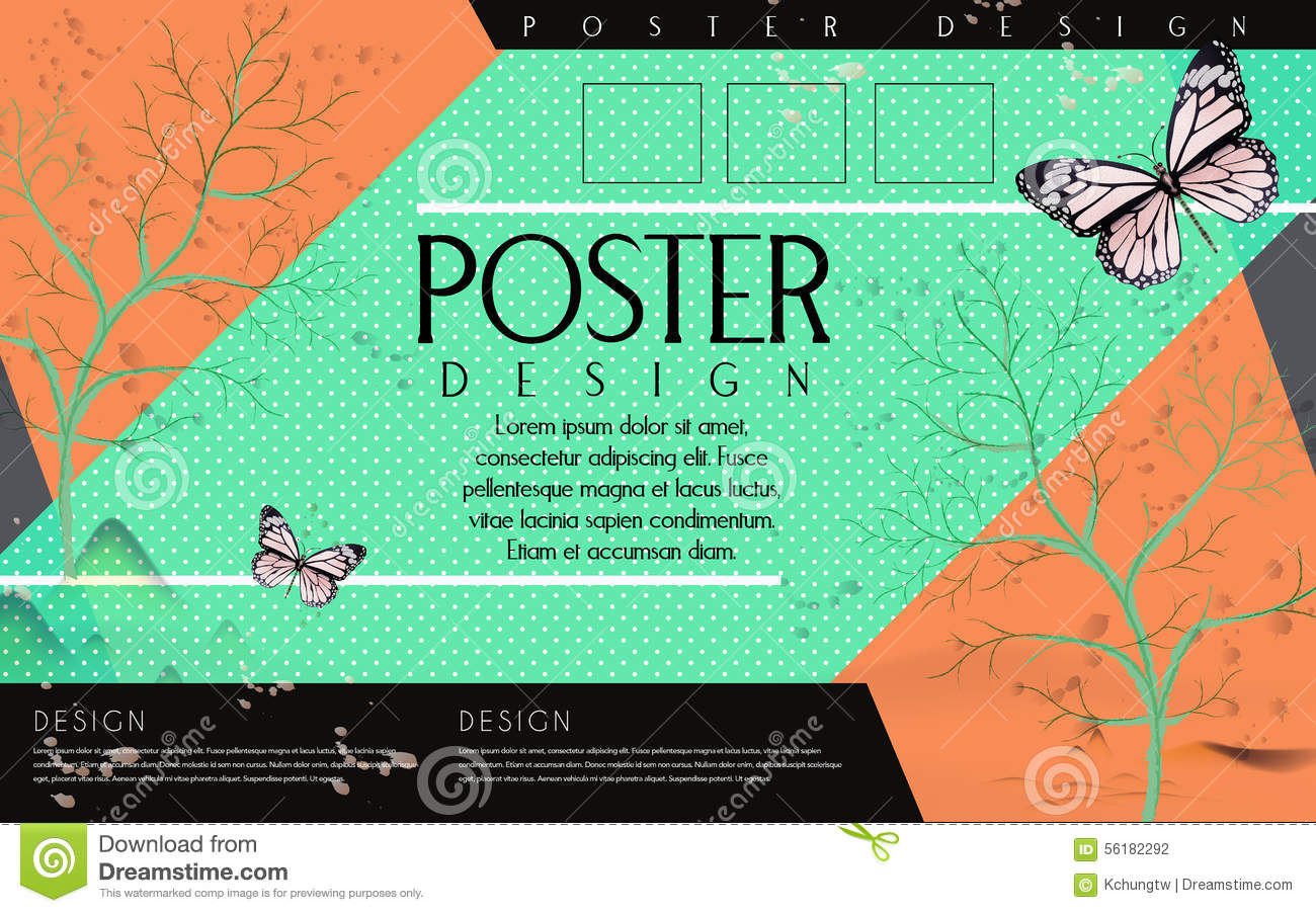Poster backgrounds design - Attractive Design Poster Template