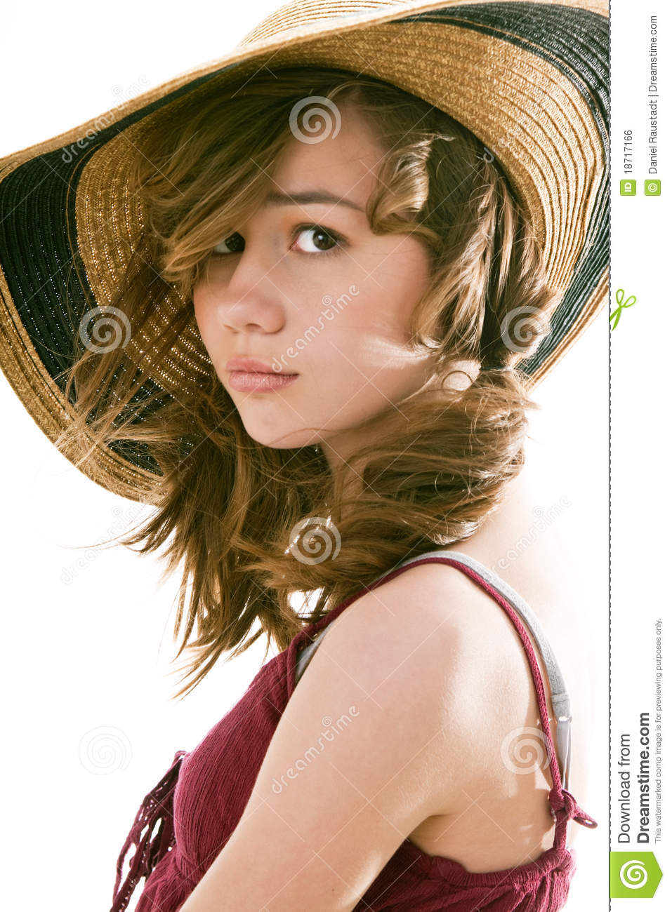 Attractive Preteen Female Model Royalty Free Stock Image