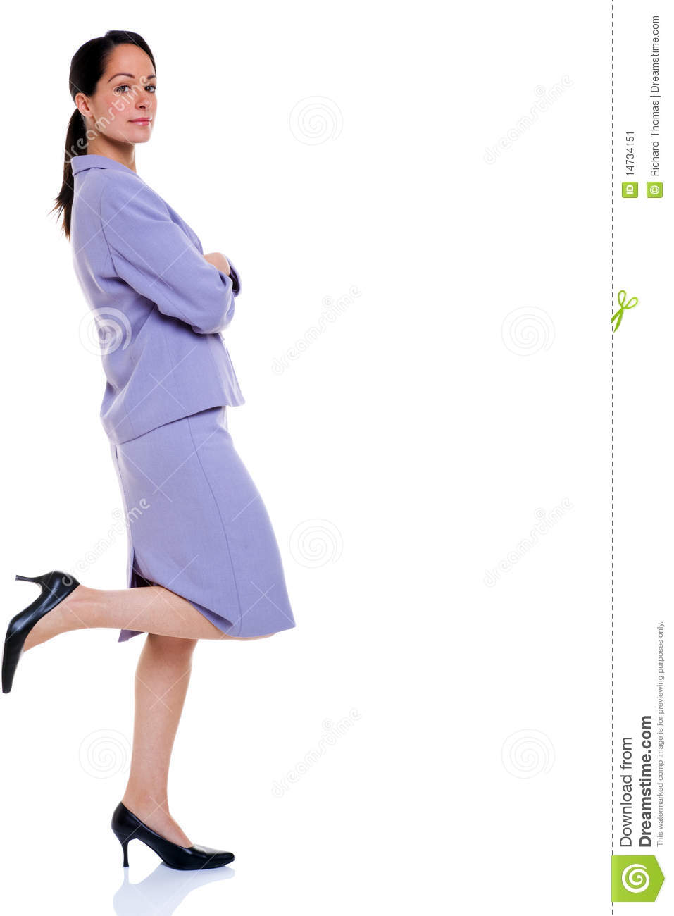 Attractive Professional Business Woman Leaning Stock Image