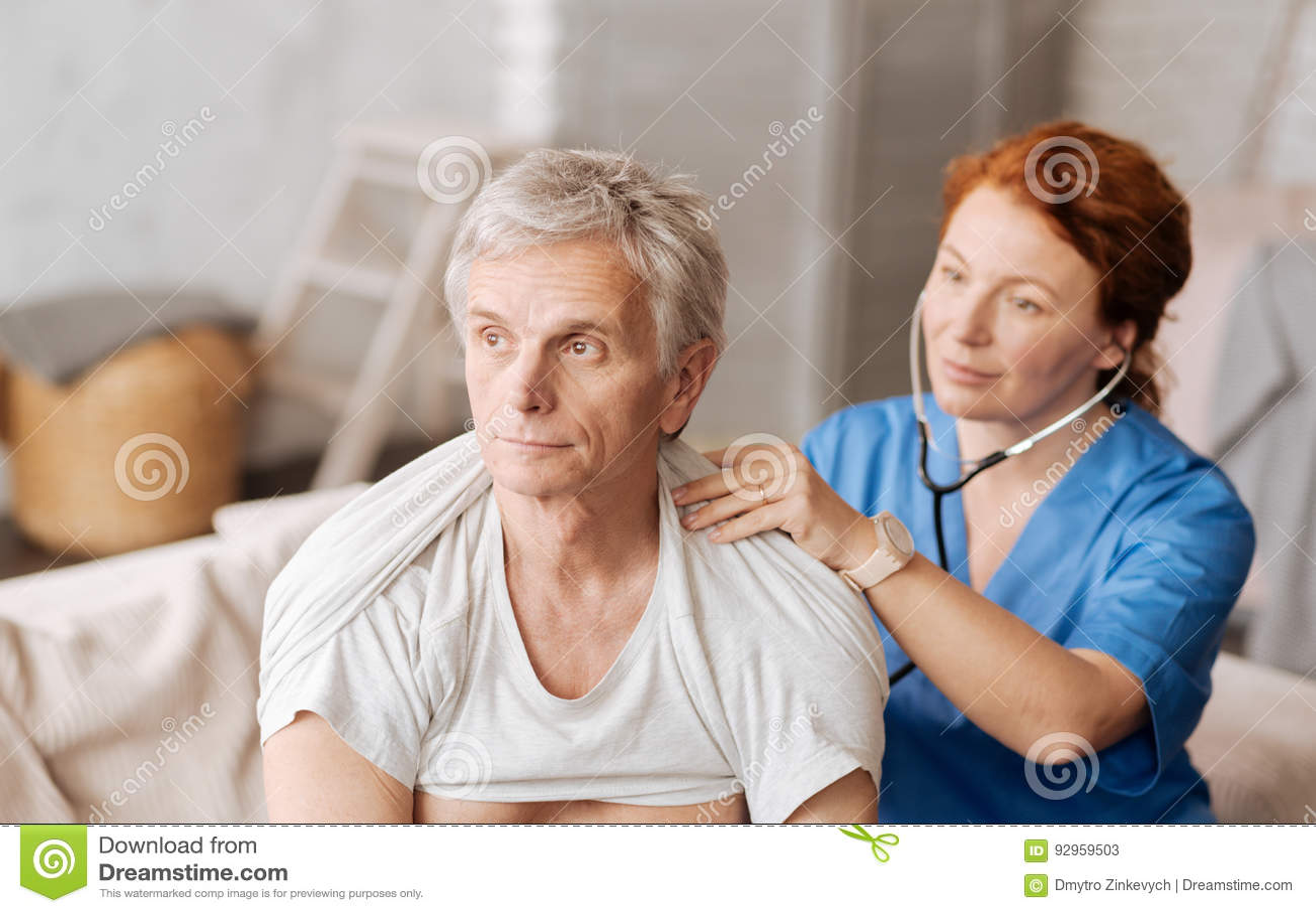 Handsome guy gets medical examination