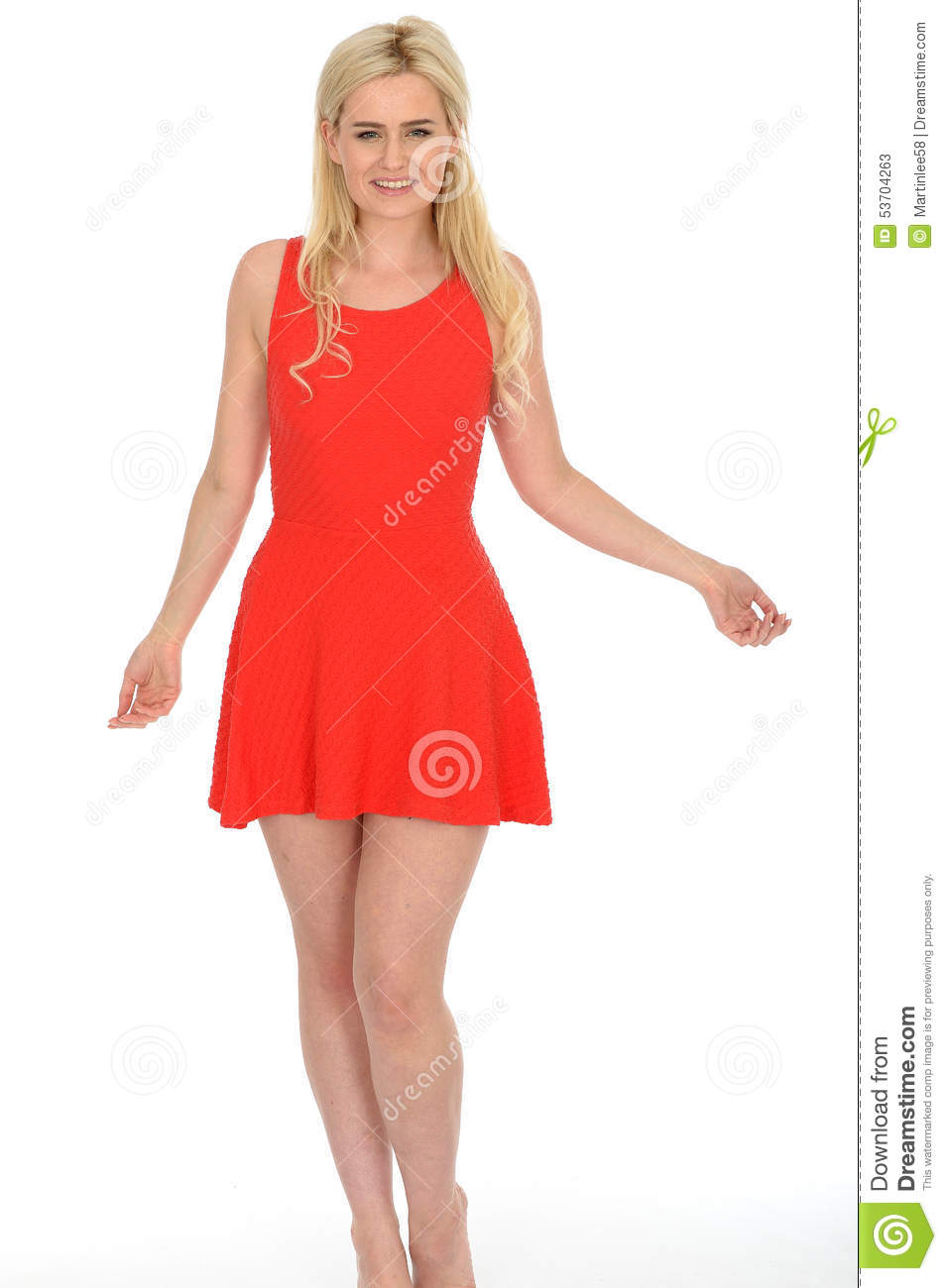Woman Wearing Red Dress Royalty-Free Stock Image ...