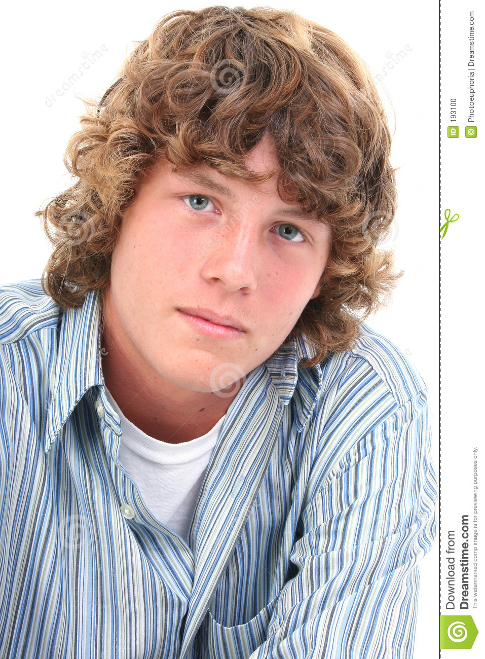 Attractive Sixteen Year Old Teen Boy Stock Photo Image