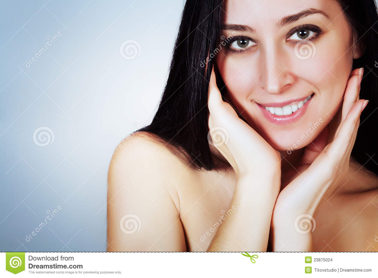 Download Attractive Smiling Woman Portrait Stock Photo - Image of attractive, close: 23875024