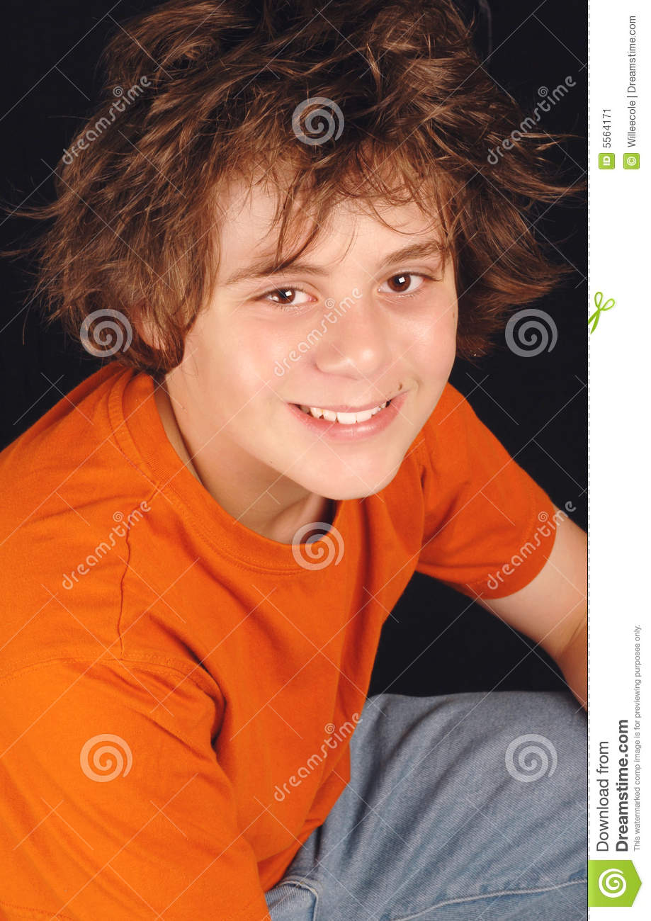 Attractive Thirteen Year Old Boy Stock Image Image Of