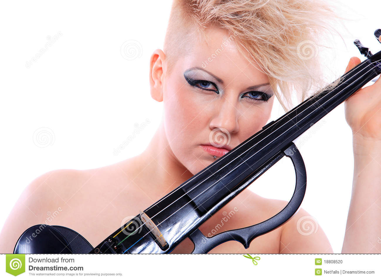 Attractive Violinist Playing The - 133.8KB