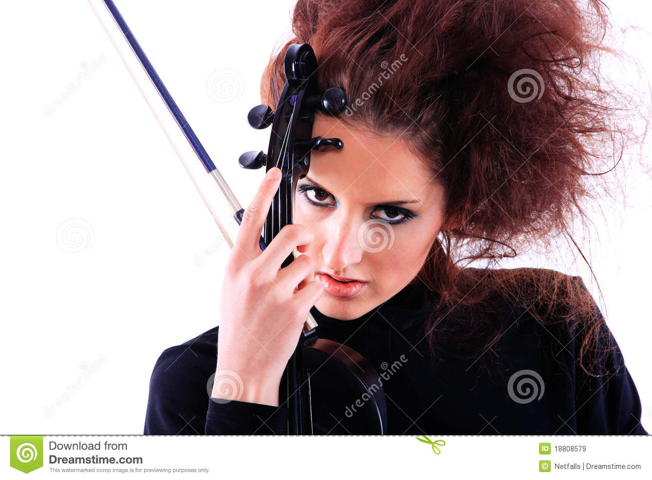 Attractive Violinist Playing The - 141.8KB