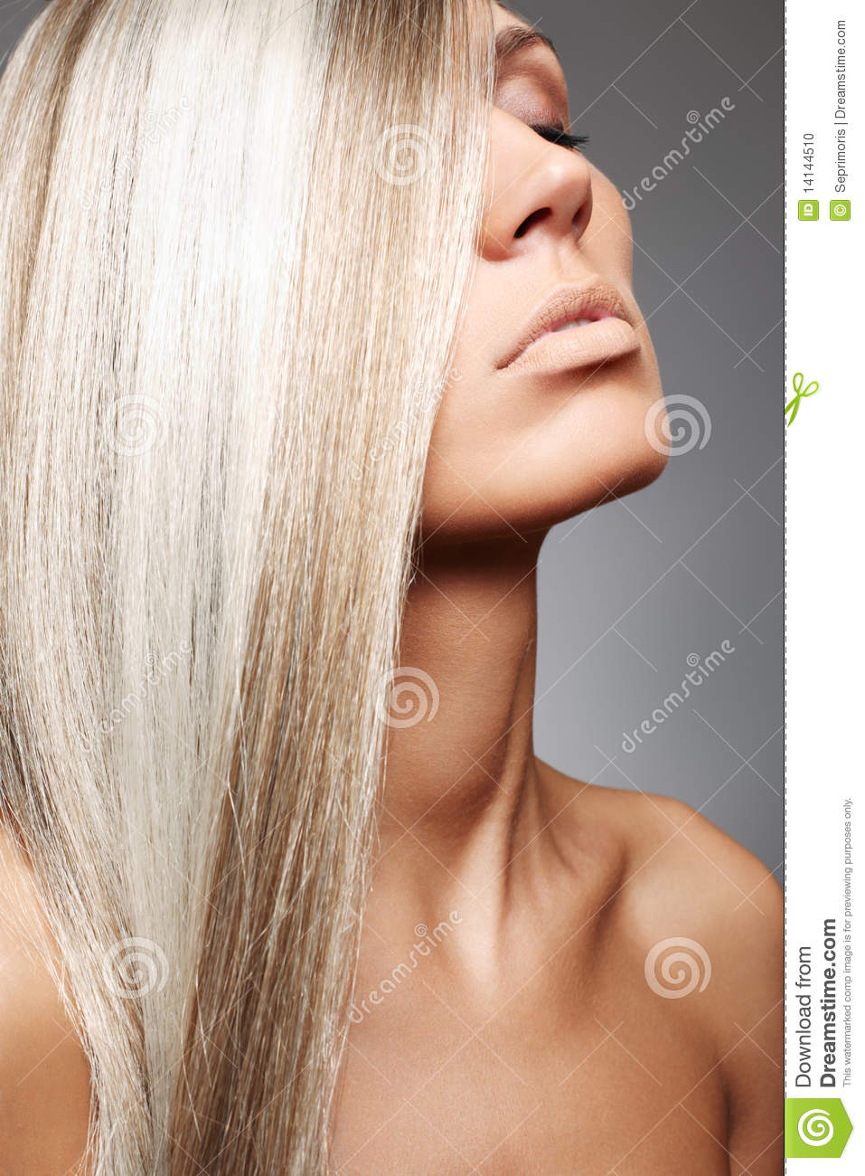 Attractive woman with beautiful hair