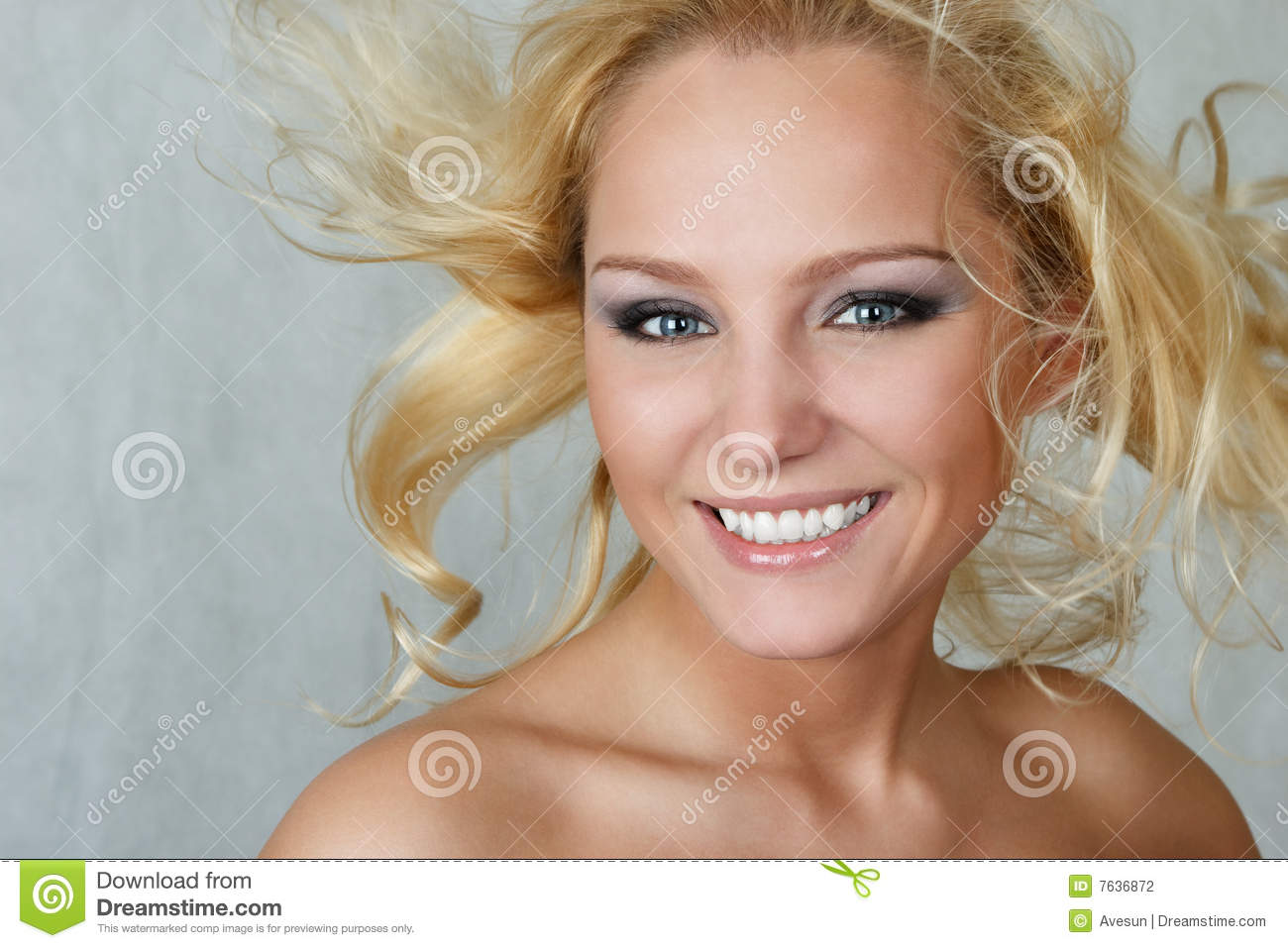 Attractive Woman With Fly-away Hair Stock Photography ...