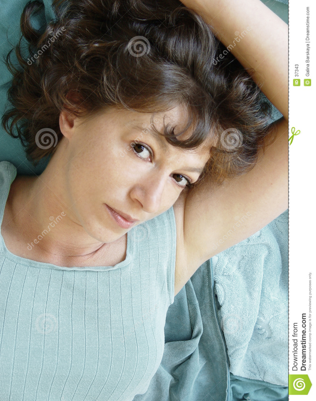 Attractive woman lying