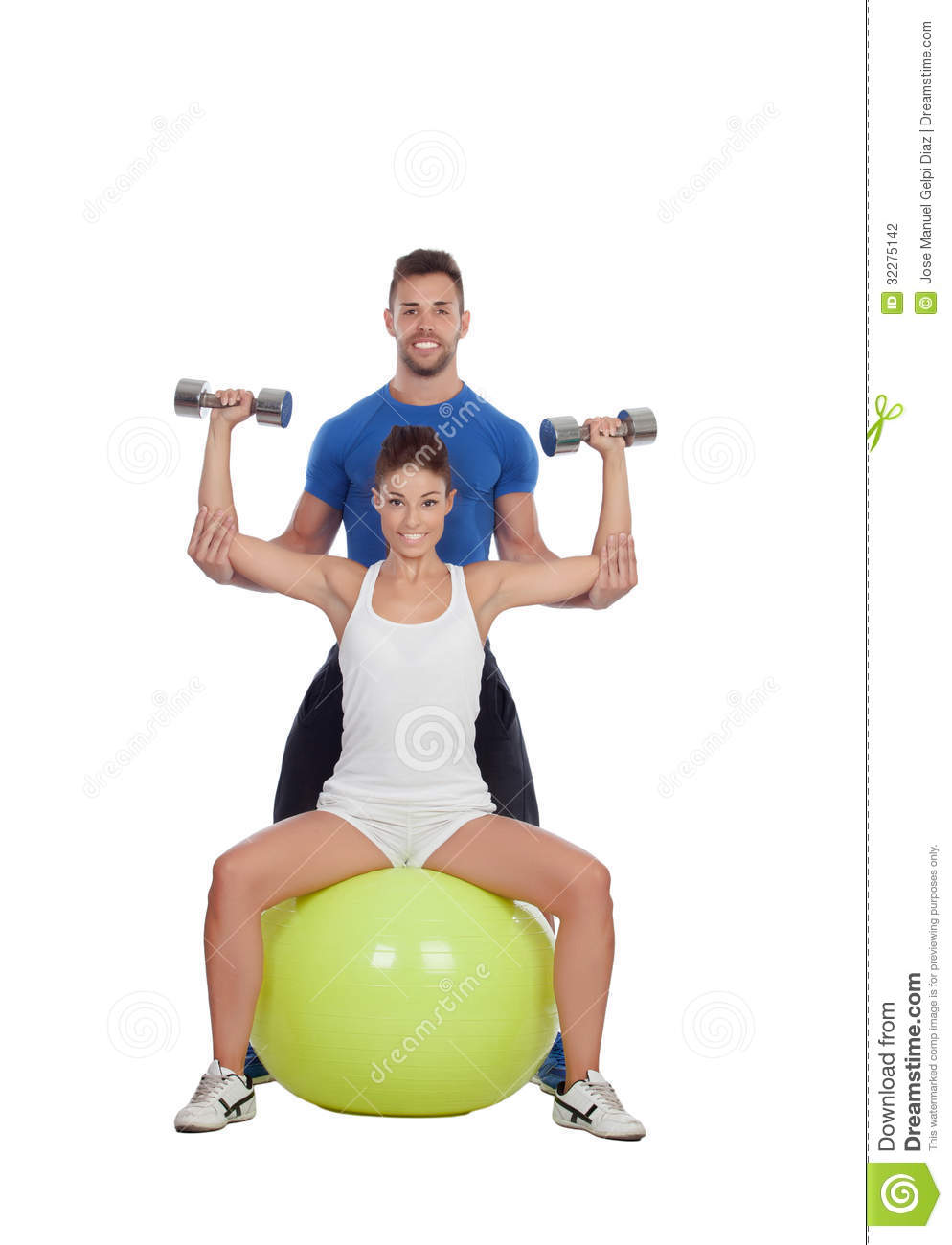 Attractive Woman And A Personal Trainer Stock Photography