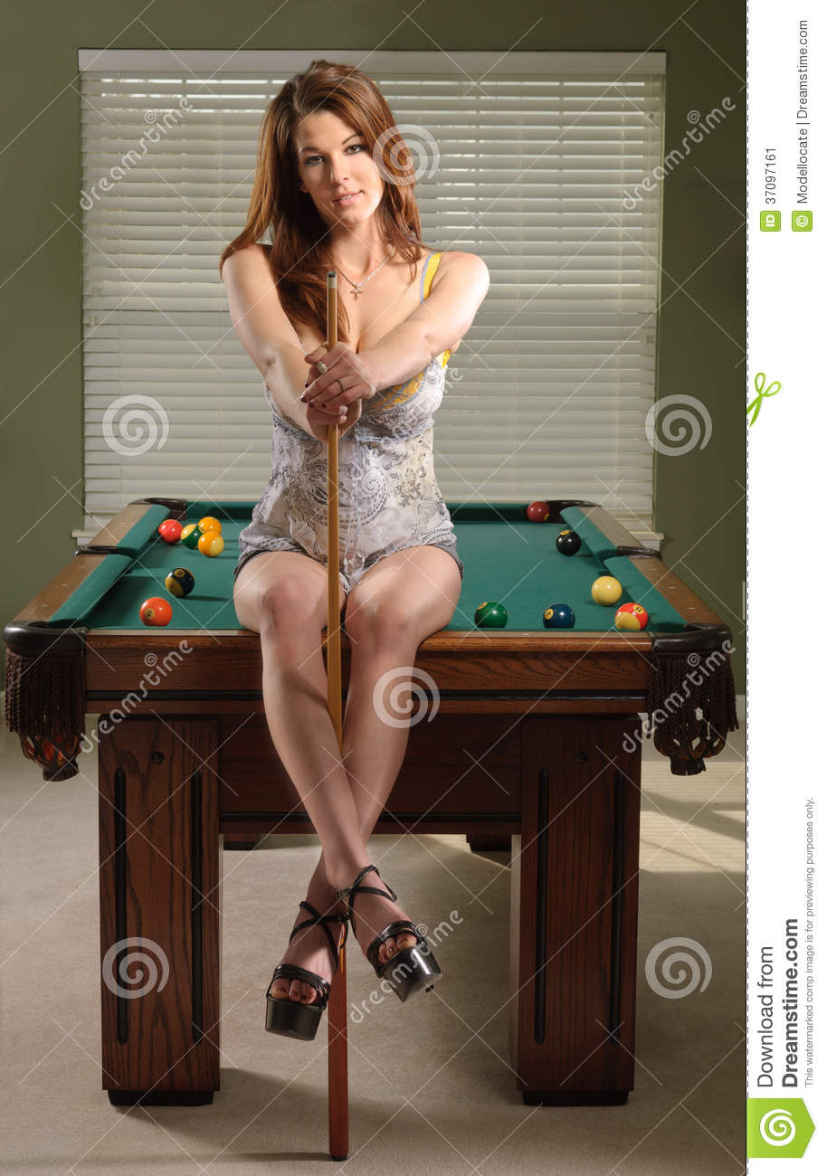 from Morgan nude woman on pool table video