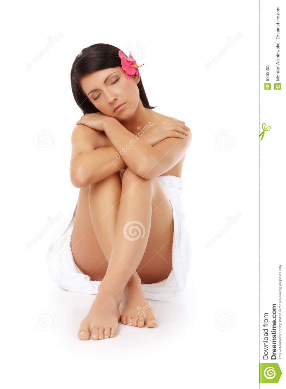 Attractive Woman Relaxing Spa