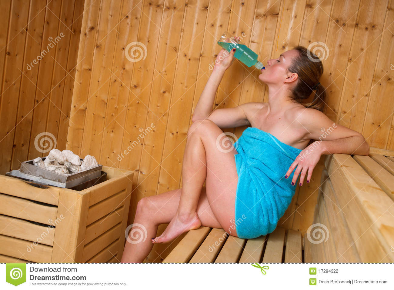 Attractive Woman In Sauna Stock Photography - Image: 17284322