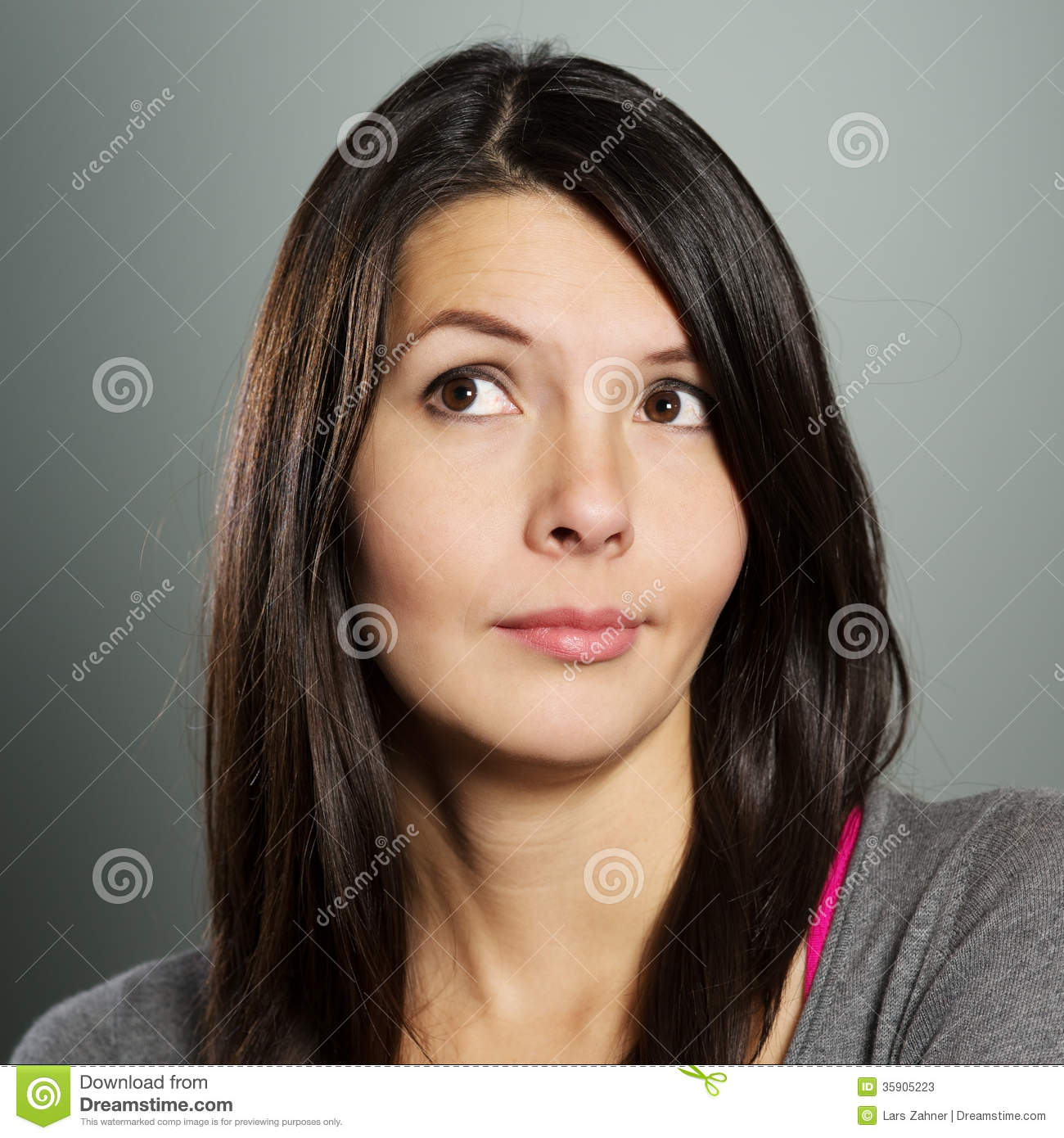 Grimace face clip art stock photo woman pulls a face in upset - Arms Attractive Bemused Expression Face Folded Sceptical Woman