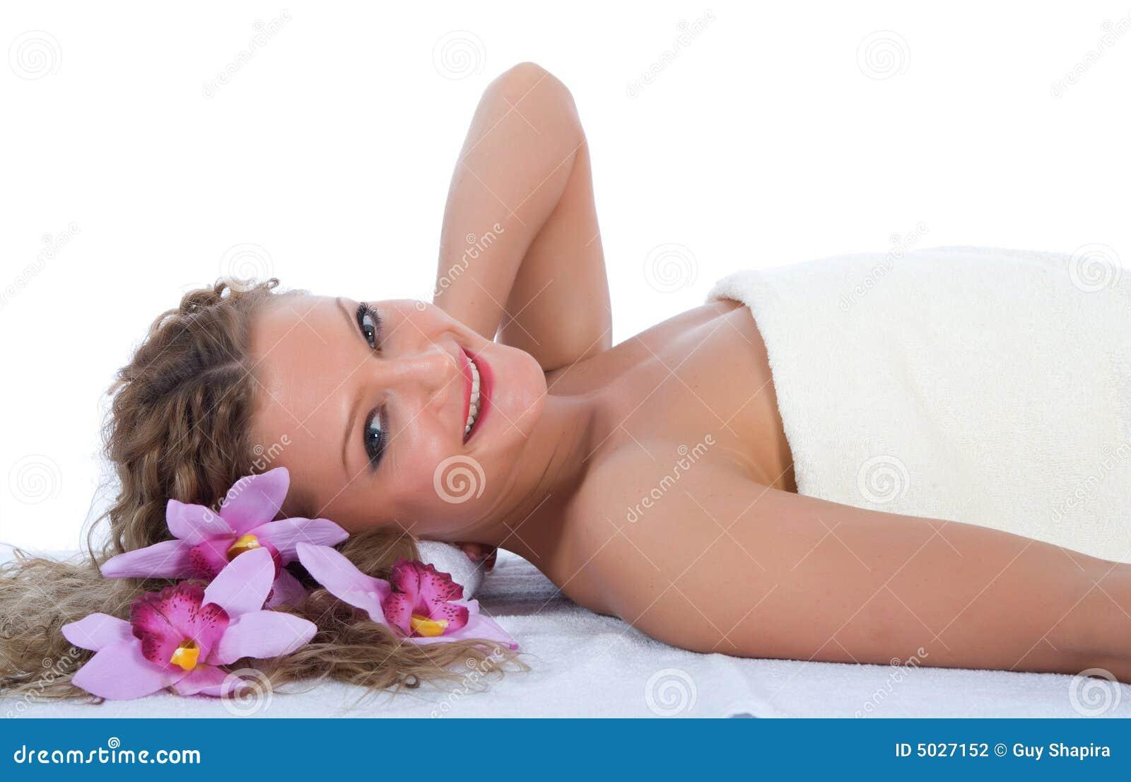 Attractive woman at spa