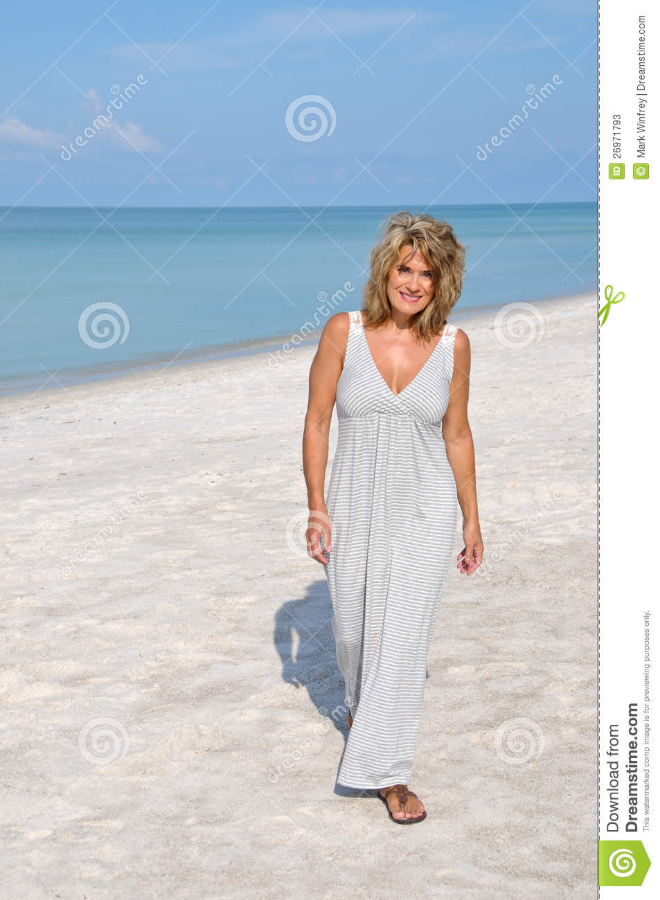 Attractive Woman In Sundress Stock Photos - Image 26971793-2002