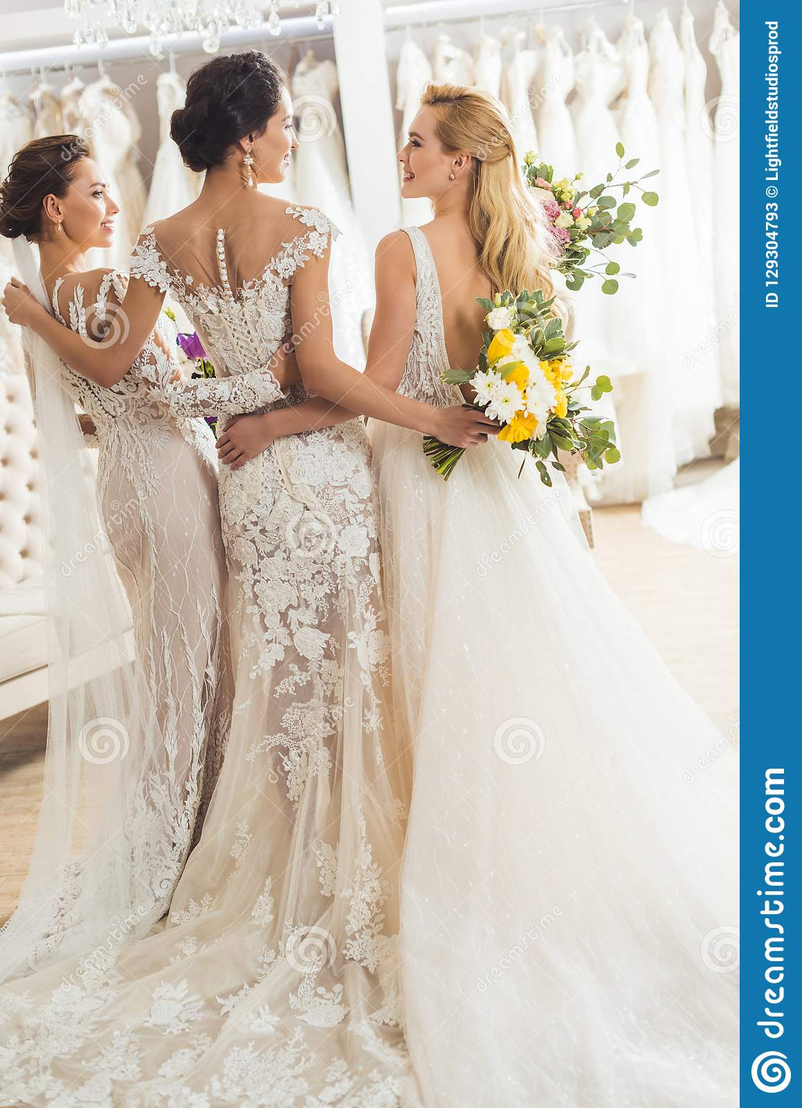 Attractive Women In Wedding Dresses Embracing In Wedding Stock Image Image Of Beauty Styling 129304793,Miami Wedding Dress