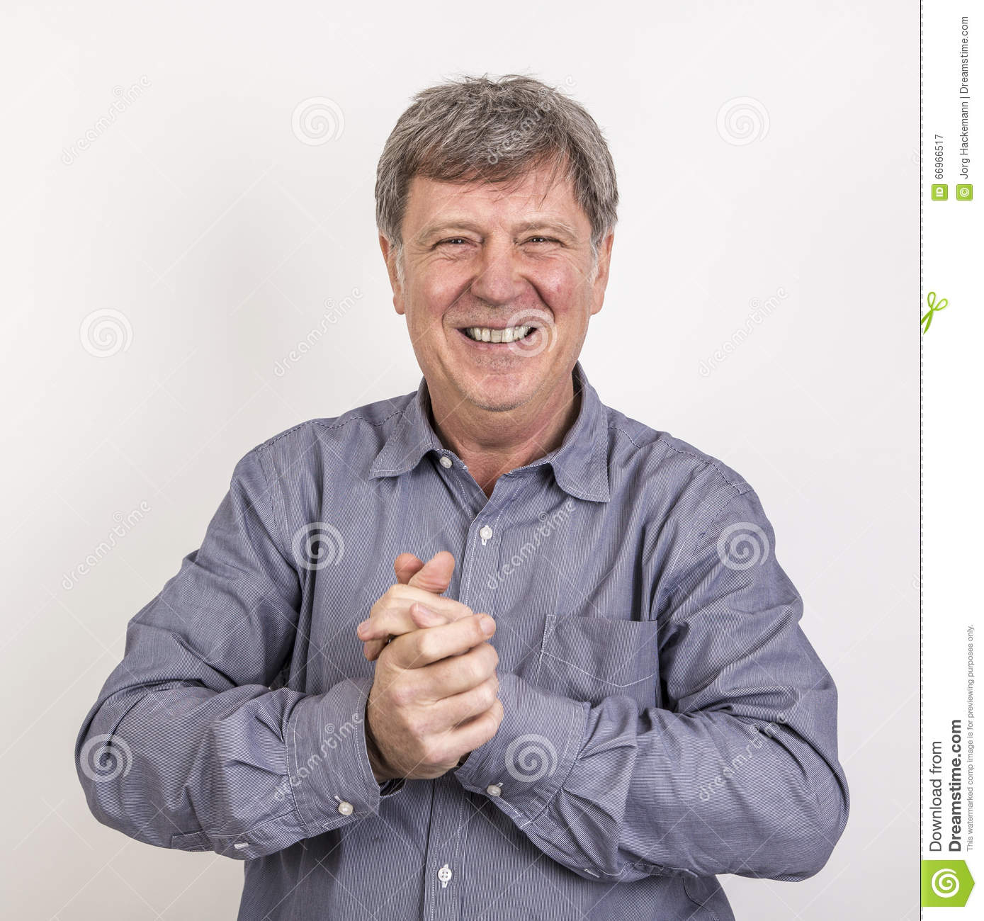 Attractive 50 Years Old Casual Dressed Man Stock Image