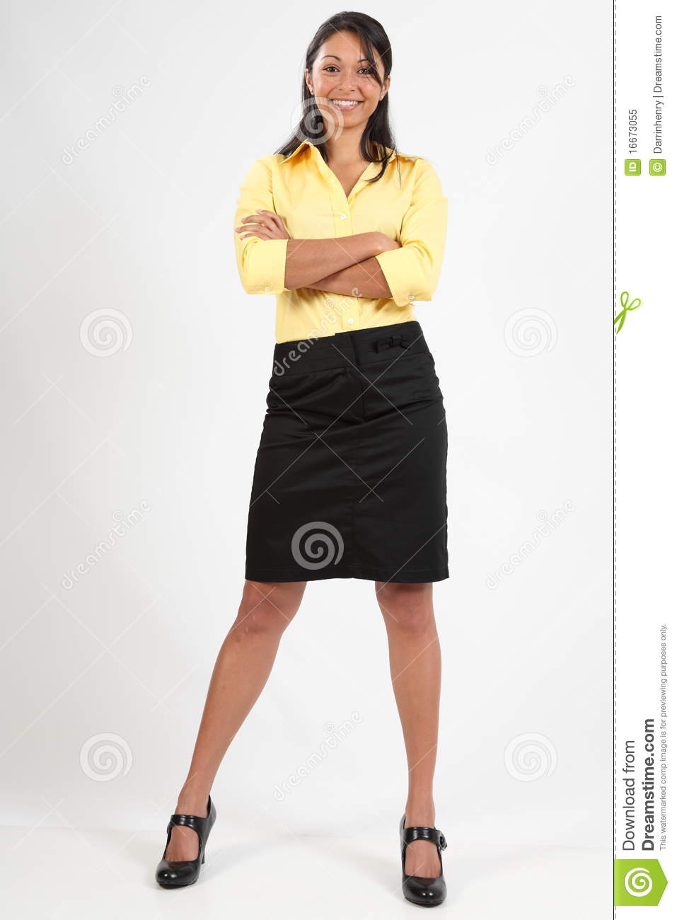 Attractive Young Business Woman Standing Smiling Royalty ...