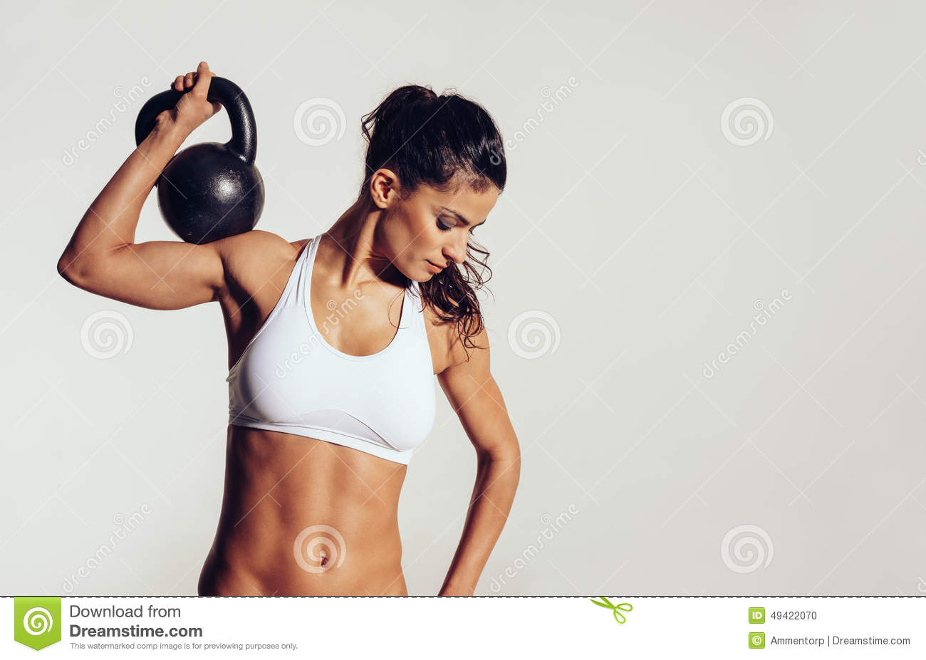 Attractive young with doing crossfit workout