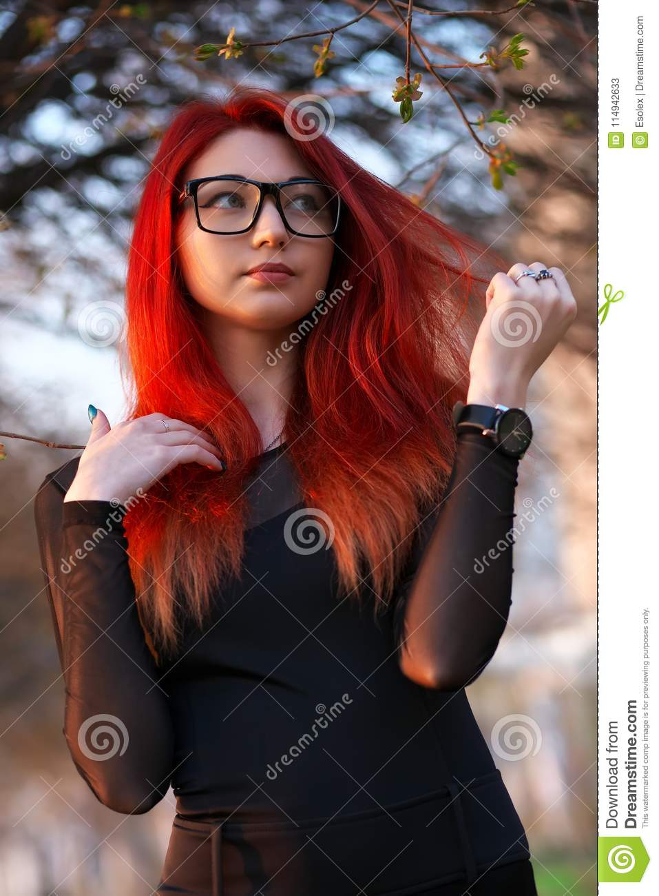 Attractive Young Girl With Red Hair Stock Image Image Of Cute