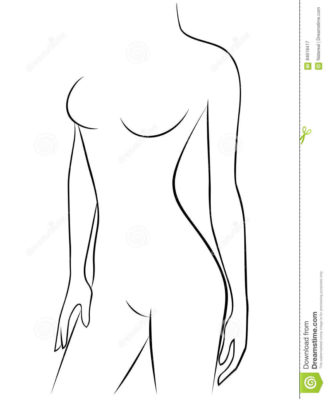Attractive Young Graceful Female Body Stock Vector Illustration Of