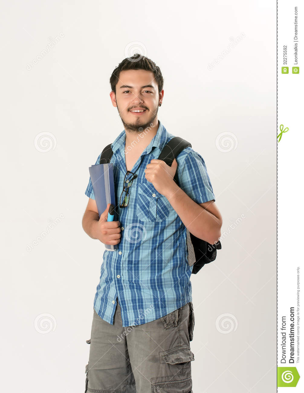 Attractive Young Male Student Stock Photo