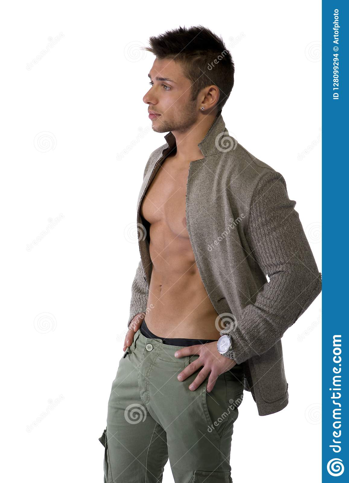 Man Pecs Muscles High Resolution Stock Photography and