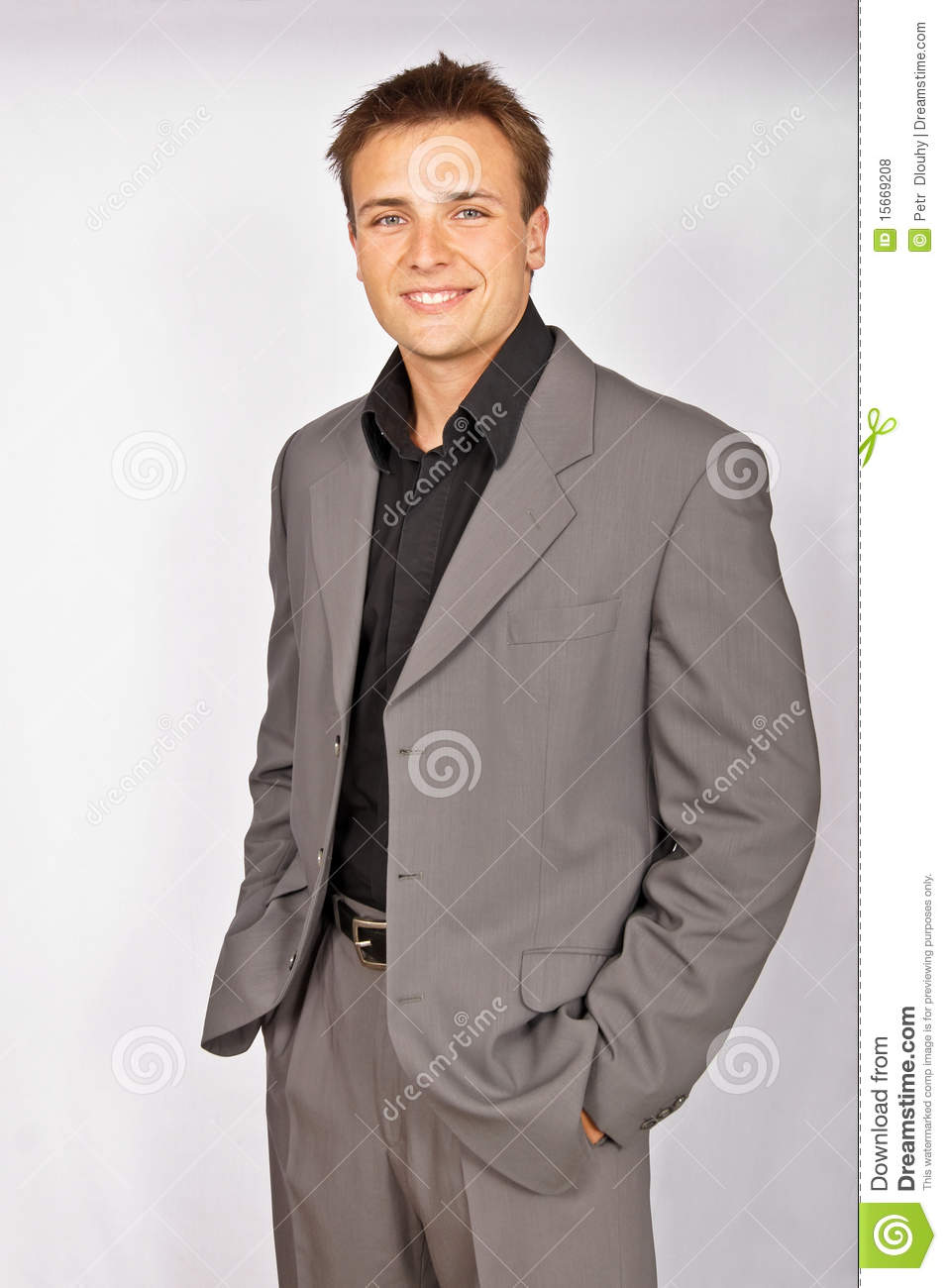 Attractive young man in suit