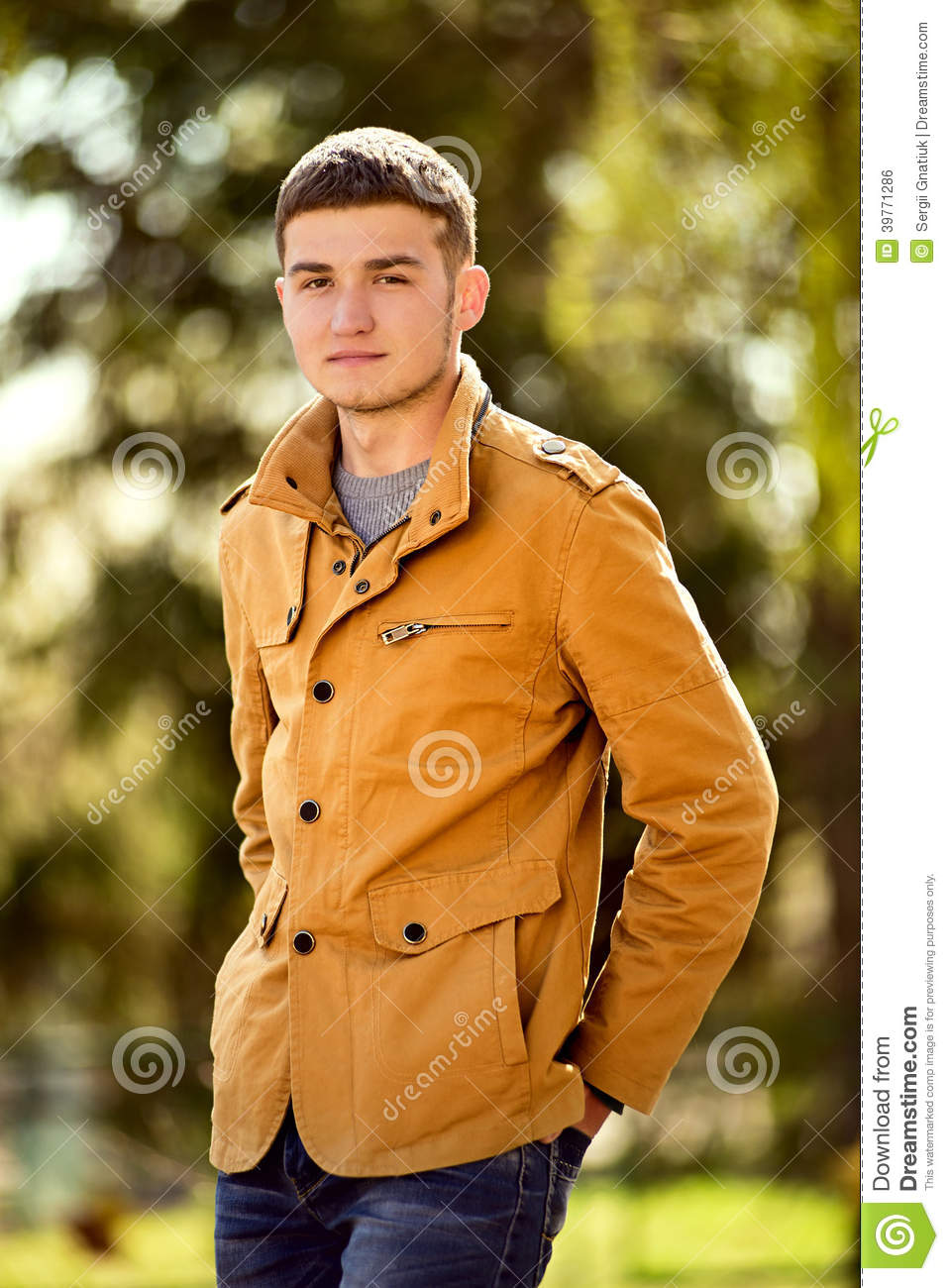 Attractive young man in a trendy jacket