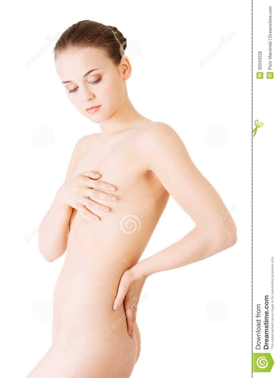 Attractive naked woman join told