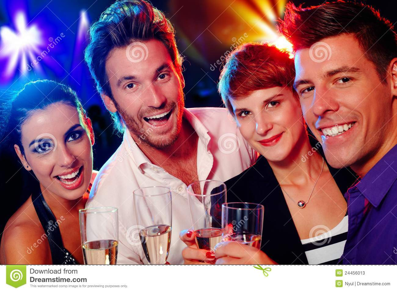 Attractive young people in nightclub