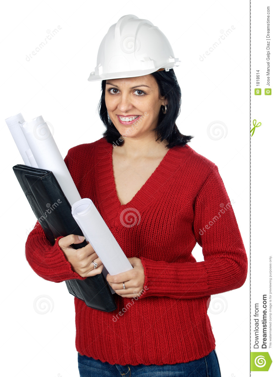 Attractive young person architect stock images image for Charming personality