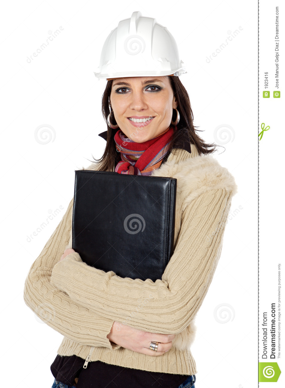 Attractive young person architect royalty free stock image for Charming personality