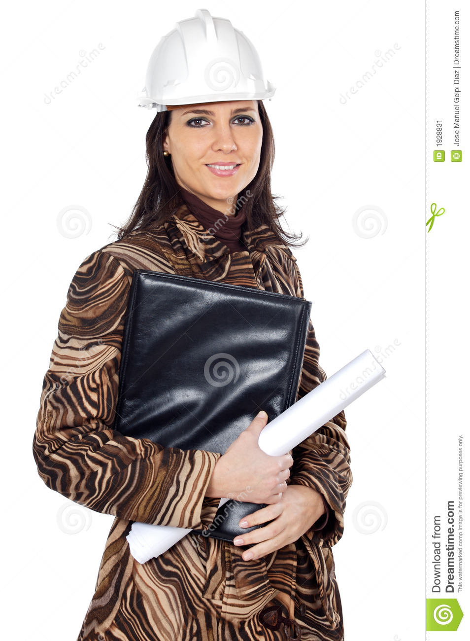 attractive young person architect stock image image of down lady