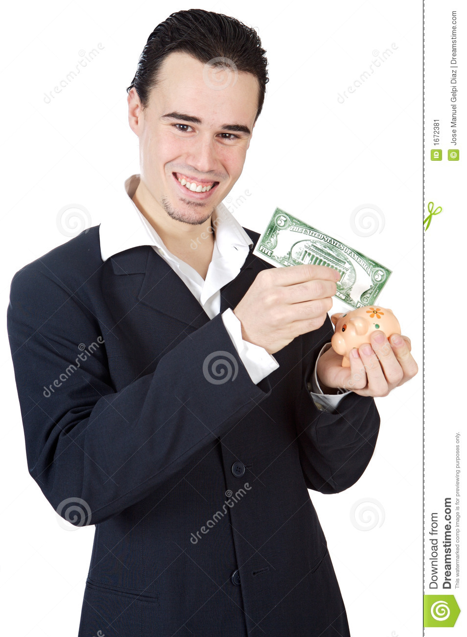 Attractive young person businessman stock image image for Charming personality