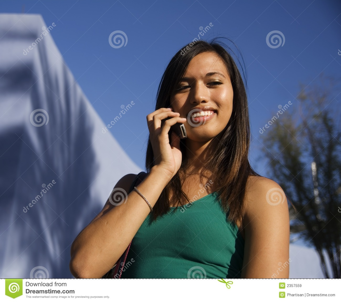 Attractive Young Woman on cell