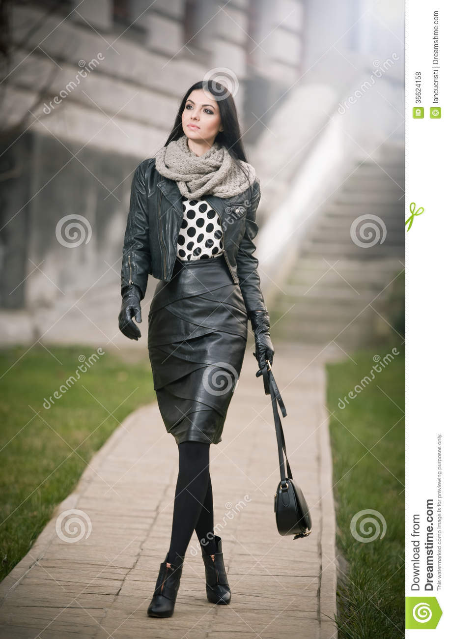 Attractive Young Woman In A Winter Fashion Shot. Beautiful ...