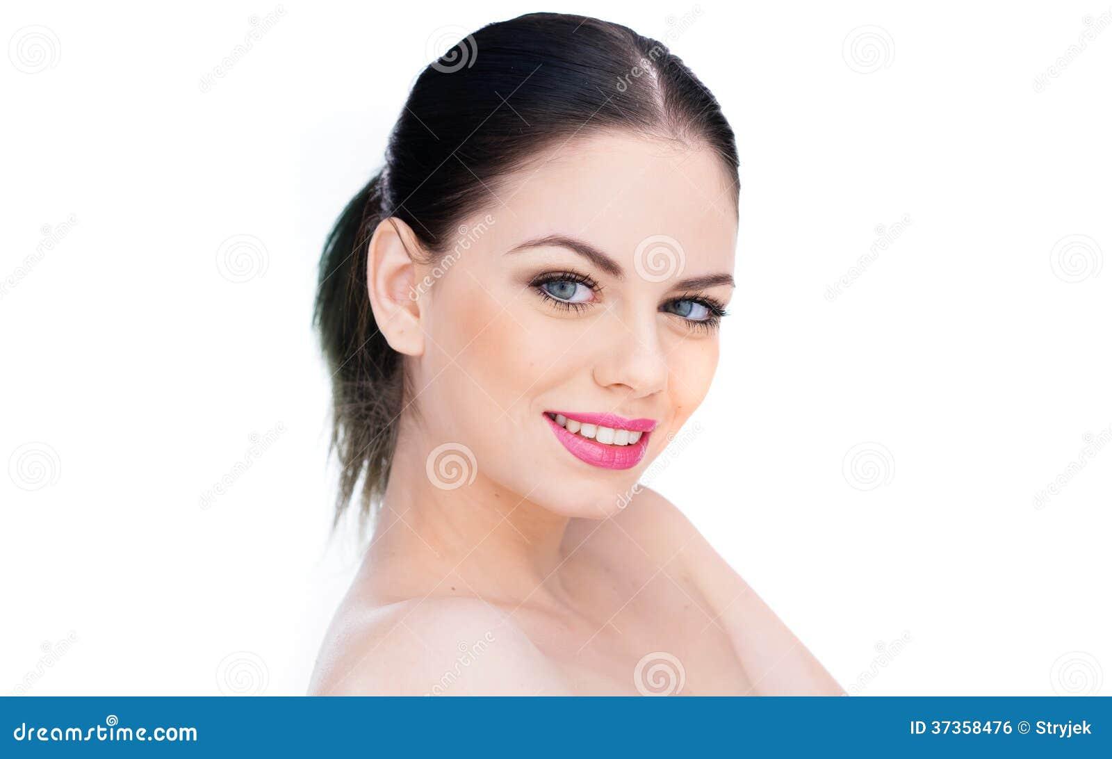 Attraktive Nackte Mit Einem Reizenden Lächeln Stockfoto