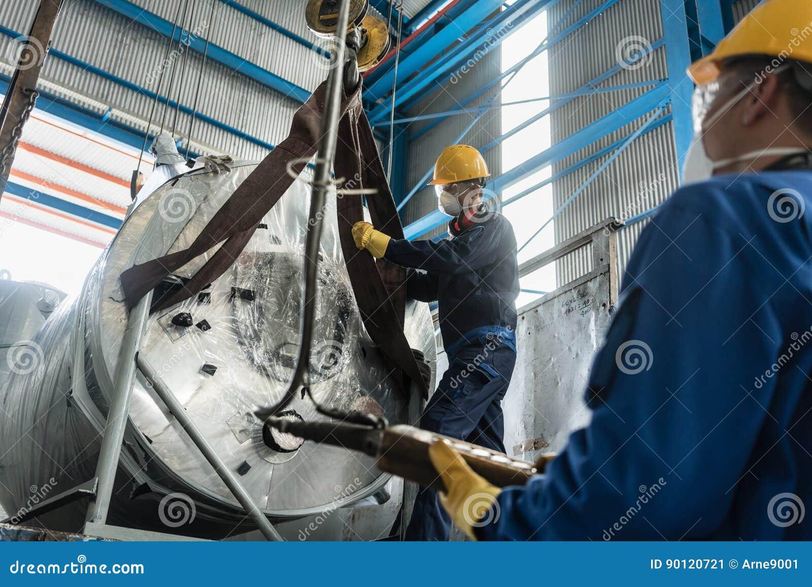 Attrezzatura di movimentazione dei lavoratori per il sollevamento delle caldaie industriali