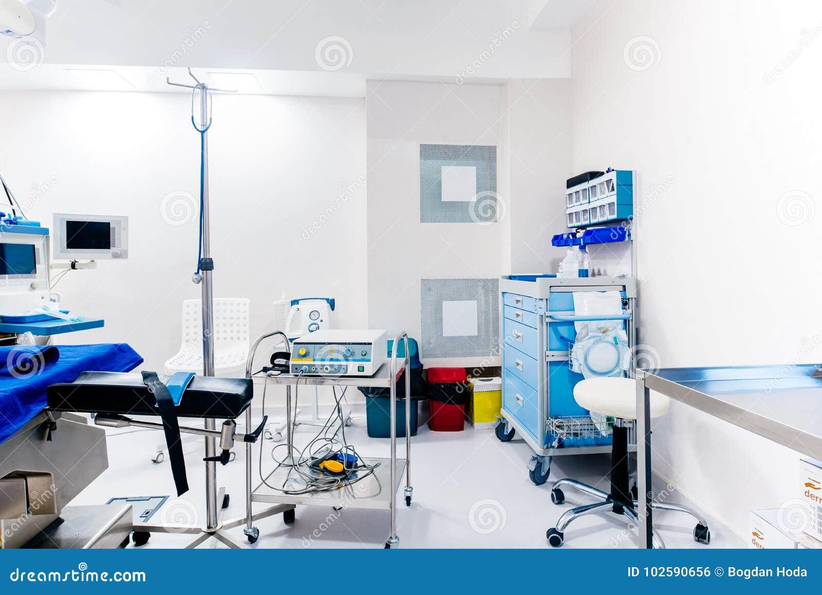 Attrezzatura medica e dispositivi nella sala operatoria Dettagli di vita della chirurgia
