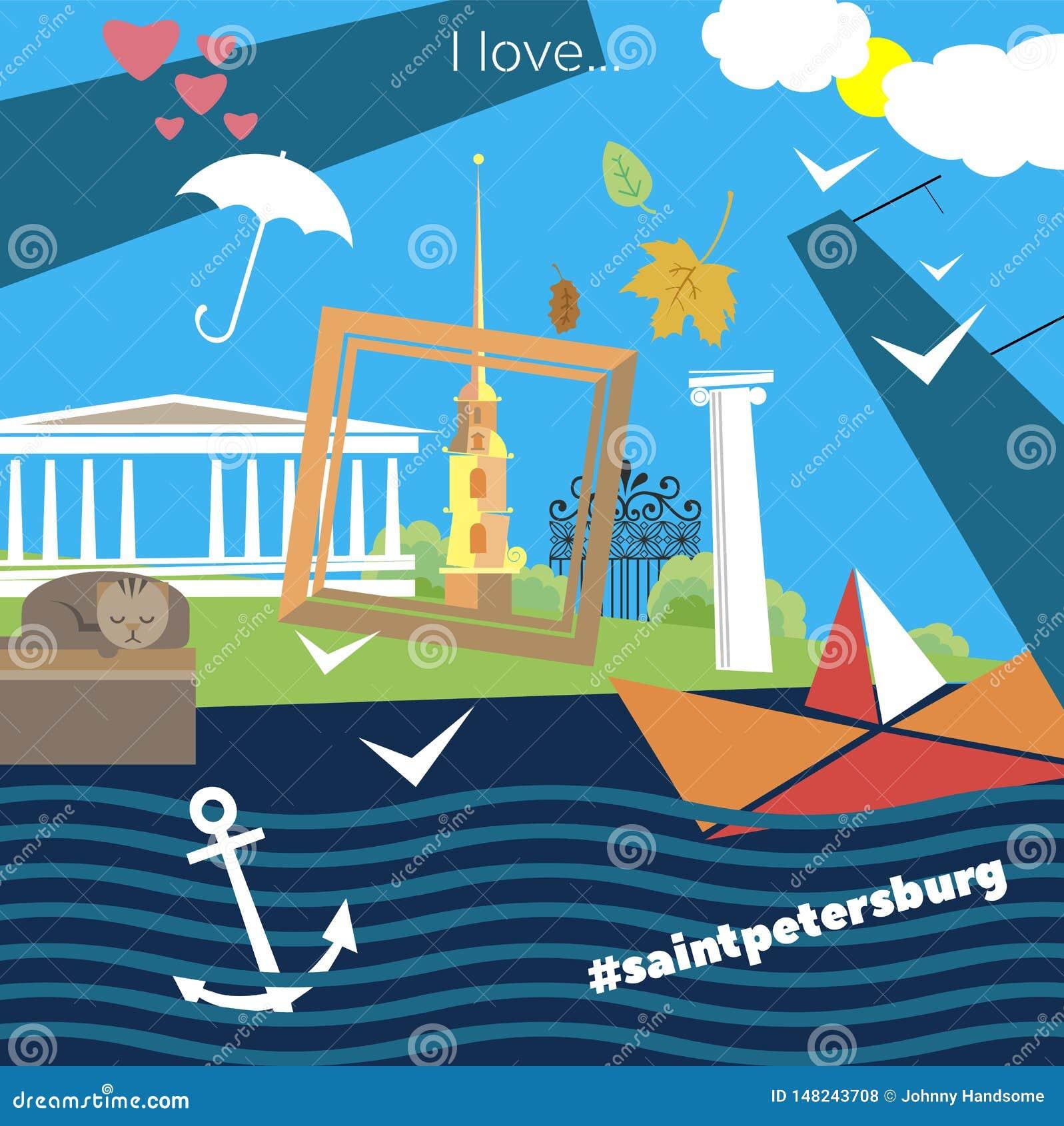Attributen heilige-Petersburg
