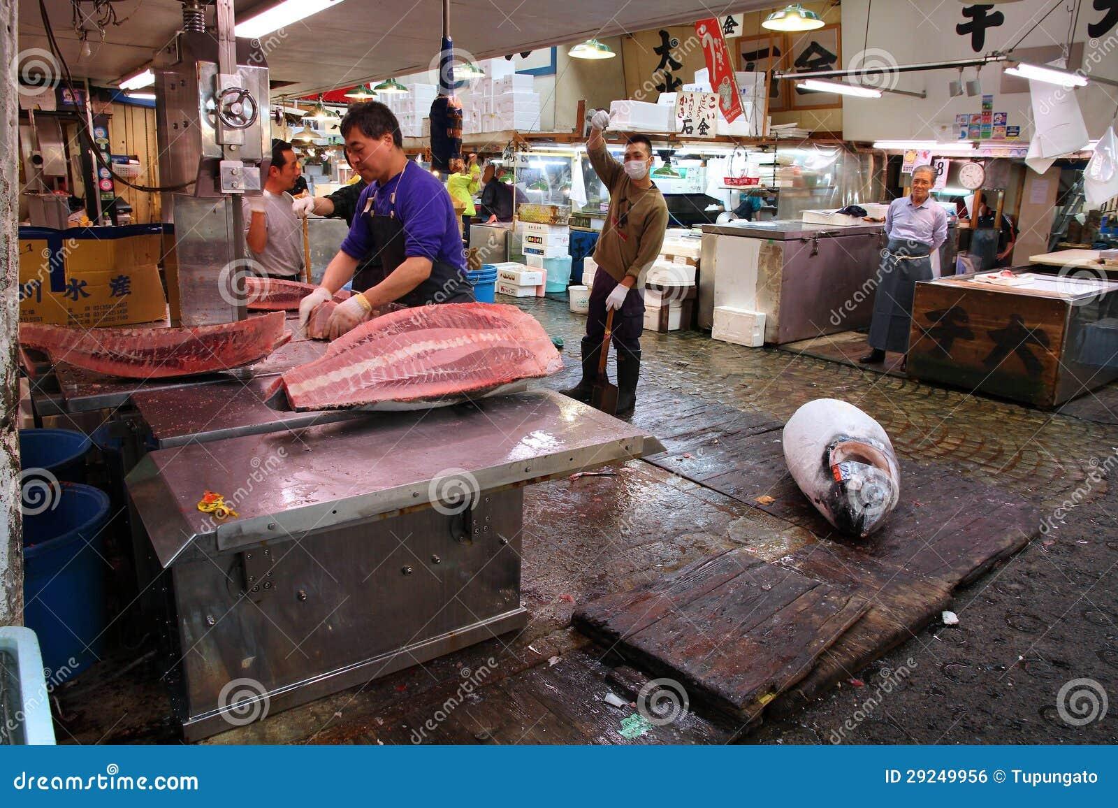 Download Atum No Mercado De Peixes De Tokyo Foto Editorial - Imagem de mercado, grande: 29249956