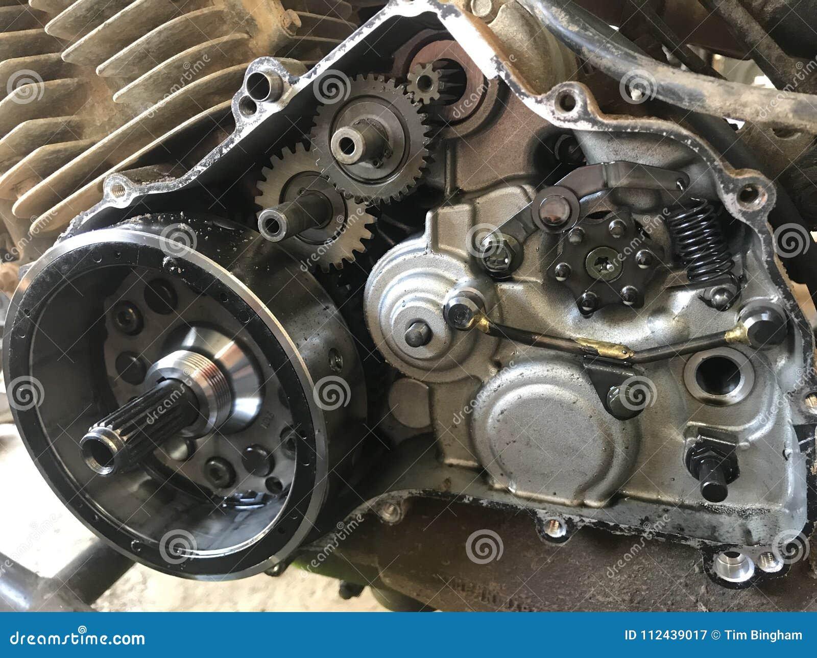 Atv Four Wheeler Engine Stock Image  Image Of Partly