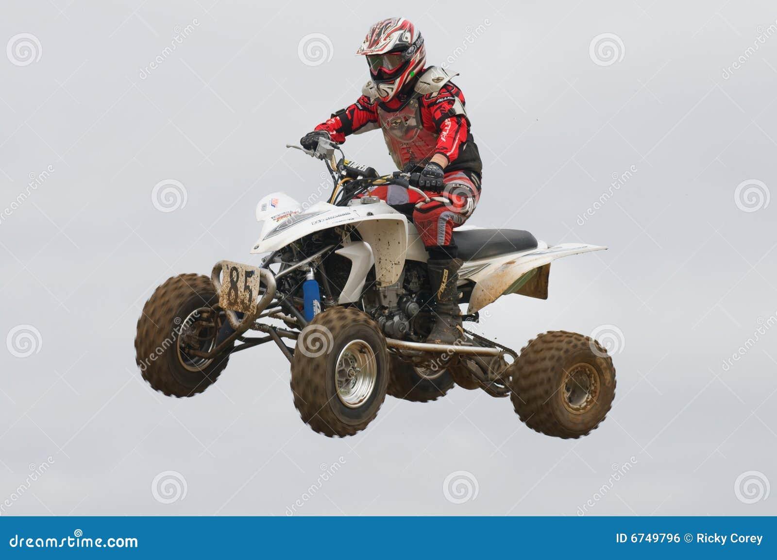 Atv Motocross Rider Over A Jump Editorial Photo Image